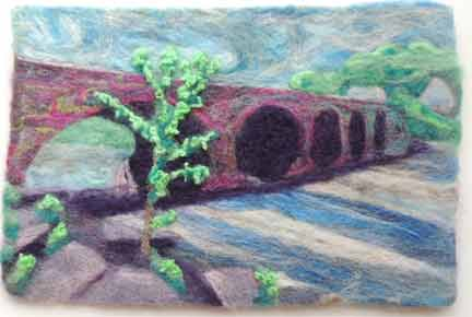 needle felted 5 span stone bridge at Pakenham